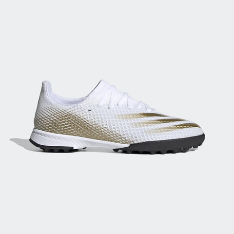 Youth Adidas X GHOSTED.3 TF - WHITE/GOLD/BLACK