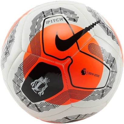 Nike Pitch Premier League 2020/2021 Ball - WHITE/ORANGE/BLACK
