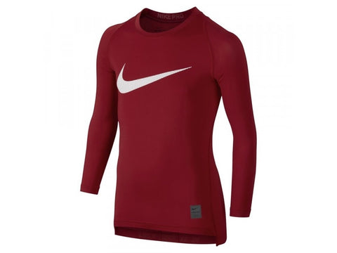 Nike Compression Shirt Red Youth