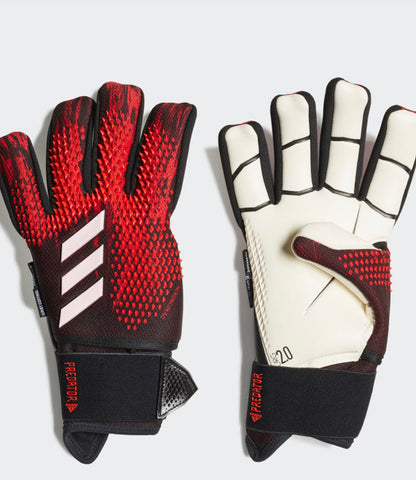 Adidas 20 Predator Ultimate Pro Goalkeeper Gloves - Black/Red