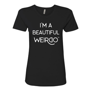 I'M A BEAUTIFUL WEIRDO Women's Boyfriend T-Shirt