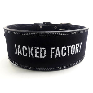Black Jacked Factory Weight Lifting Belt with white logo