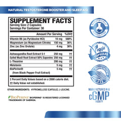 ALPHA MALE STACK (Test Booster, Anti-Estrogen, PM Test Booster)