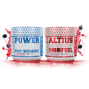 Powerbuild Mixed Berry Flavor (20 servings) and Altius Mixed Berry Flavor (20 servings)