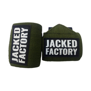 Military Green Jacked Factory Wrist Wraps