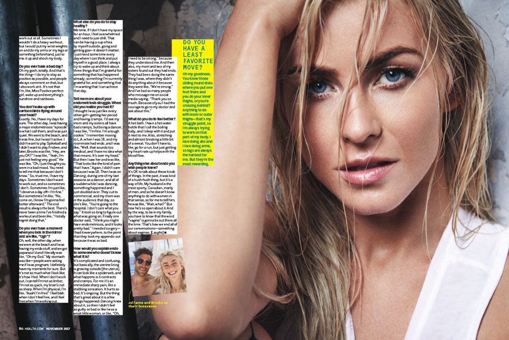 Health Magazine - Julianne Hough Feature