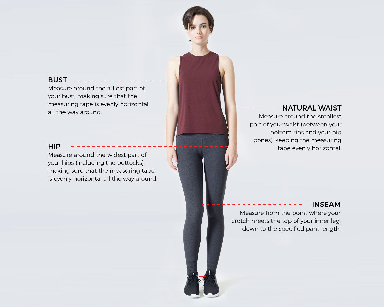 Women's Size Guide – MPG Sport CA