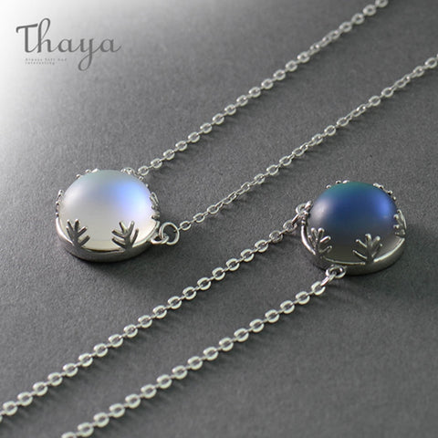 70b7f05f05 Thaya 55cm Aurora Pendant Necklace Halo Crystal Gemstone s925 Silver Scale  Light Necklace for Women Elegant
