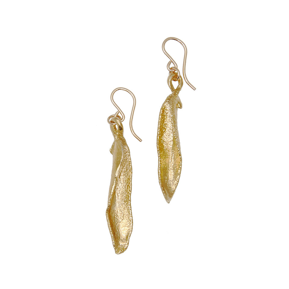 Sage Wisdom Earrings - Curvy Leaves