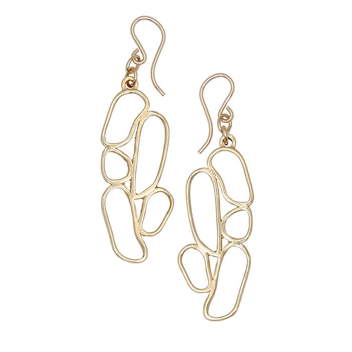 River Rock Silhouette Drop Earrings