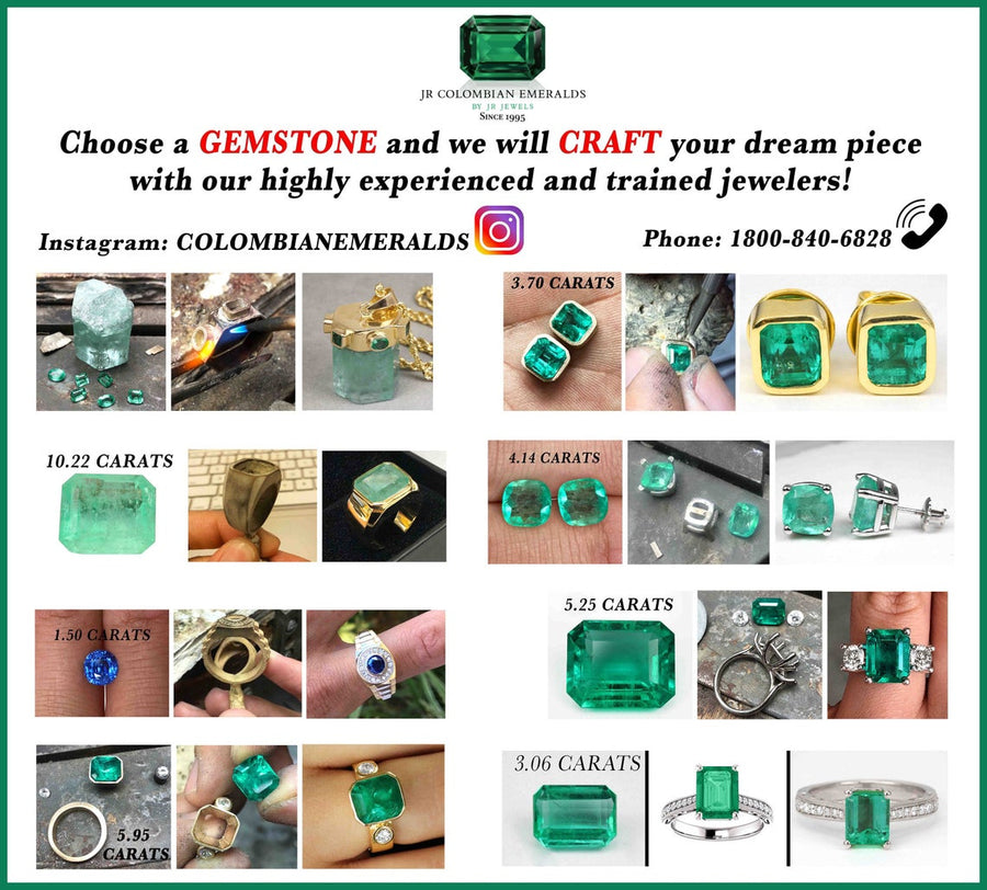 2.36tcw Five Stone Oval Emerald & Diamond Ring 14K