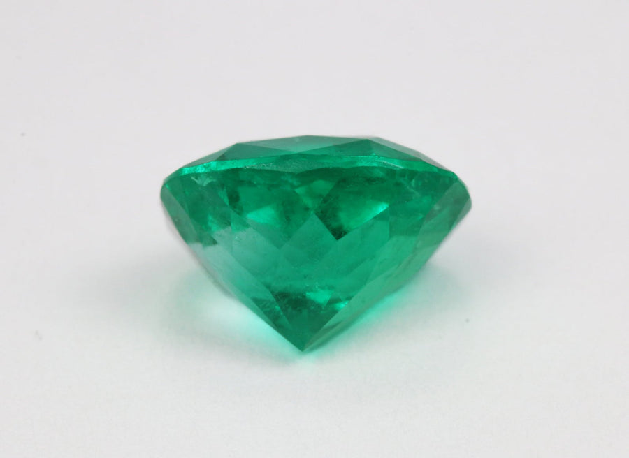 4.05ct GIA Certified Natural 12mm x 10mm Cushion Colombian Emerald