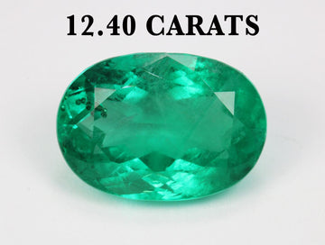 12.40ct AAA+ Natural Oval Colombian Emerald 17mmx12mm Genuine Loose Emerald Oval