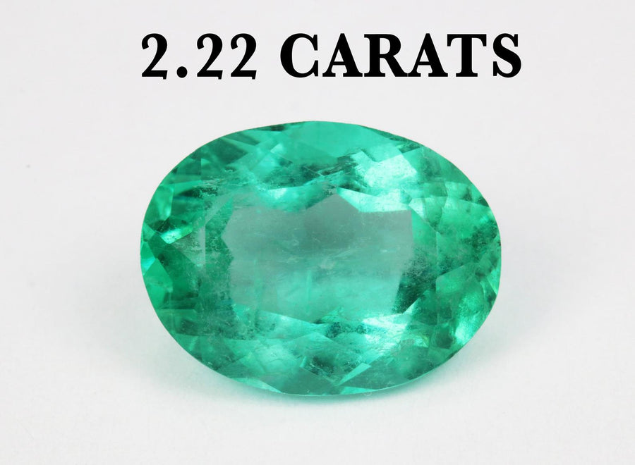 2.22ct Natural Oval Colombian Emerald 10x7 Genuine Loose Emerald Oval