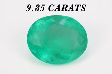 9.85ct Huge Natural Oval Colombian Emerald 16x13 Genuine Loose Emerald Oval