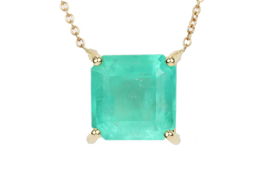4.63 ct Emerald Solitaire Necklace