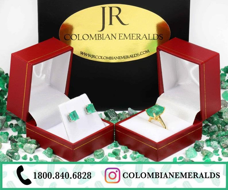 1.90tcw COVID-19 Colombian Emerald Ring