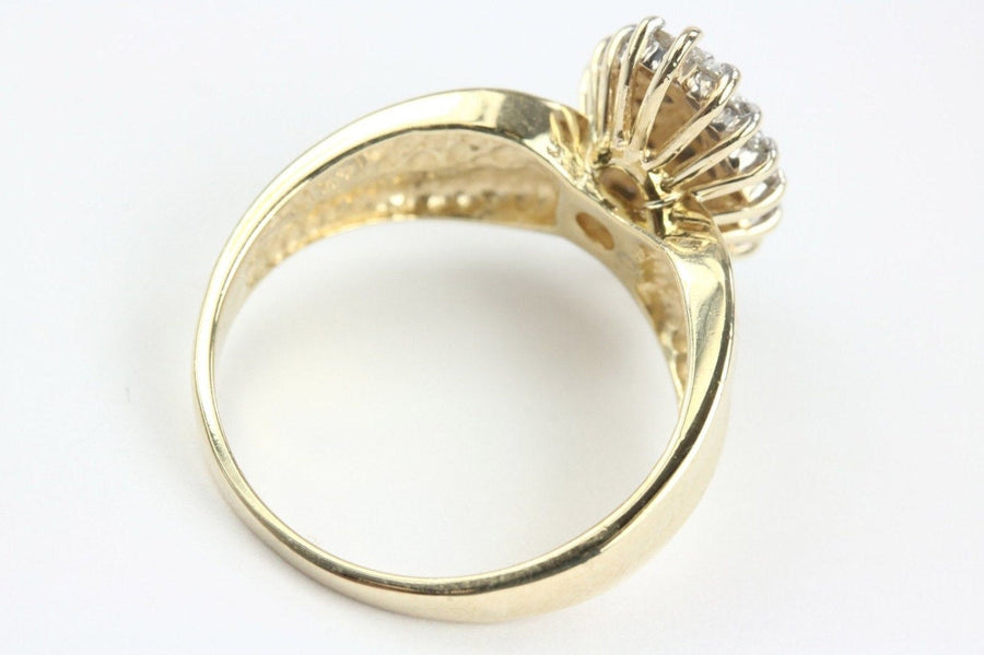 Diamond Cluster Ring 14K Yellow Gold