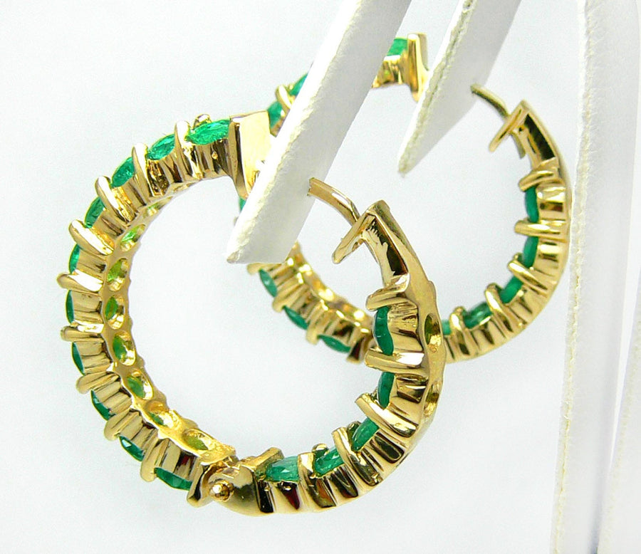 5.0tcw Colombian Emerald & Gold