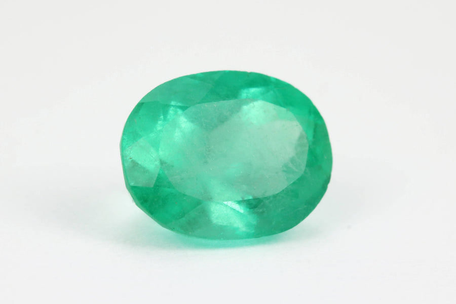 1.20 Carats Natural Colombian Emerald Oval Shape, Columbian Emerald Oval Gemstone, Loose Emerald Oval Cut, Genuine Unset Oval Emerald
