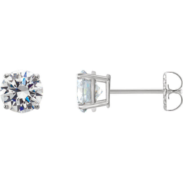 1.10 Carats Diamond Solitaire Stud Earrings 14K