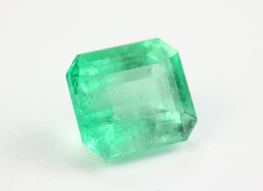 1.84 Carats Bright Spring Green Natural Emerald Rectangle Cut Unset May Birthstone