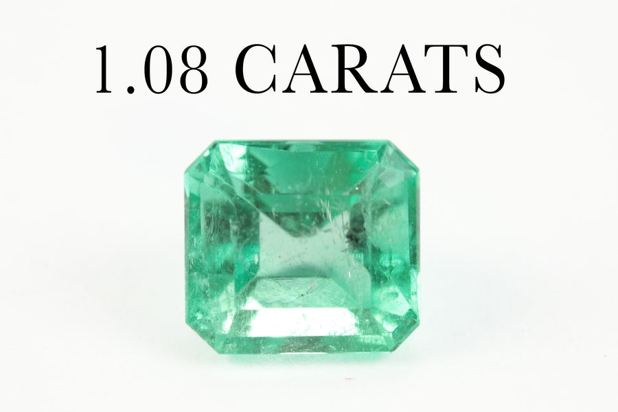 1.08 Carats Natural Loose Gemstones Emerald Cut Emerald Averaging 6.2x5.8MM, Emerald May Birthstone