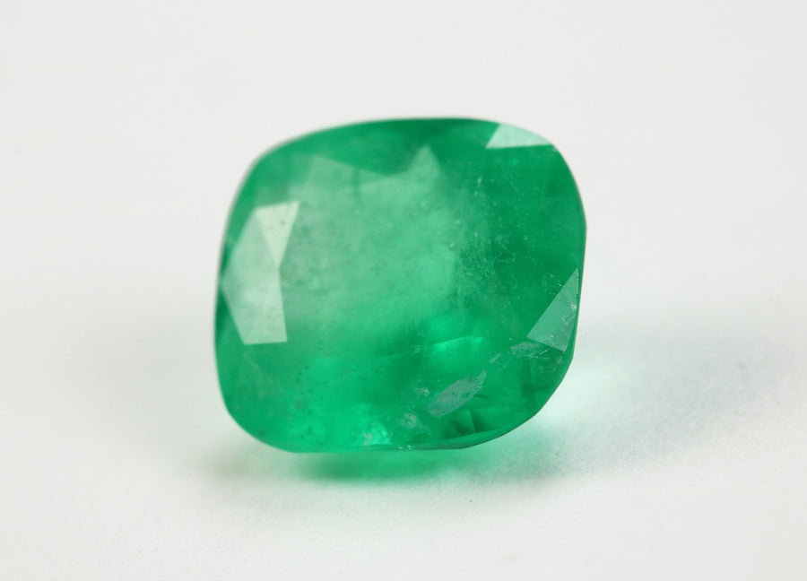 1.87 Carat Cushion Cut Natural Colombian Emerald Gemstone
