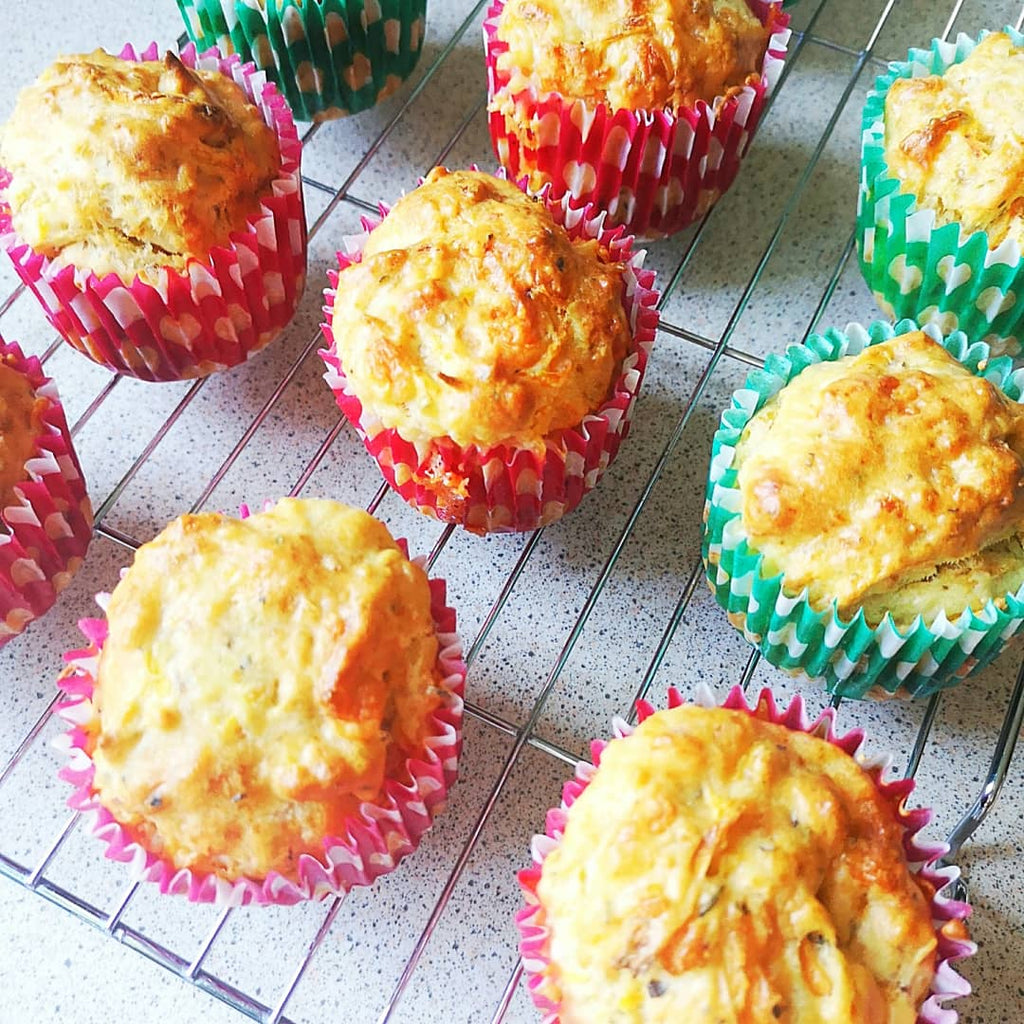 Cheesy Carrot Muffins