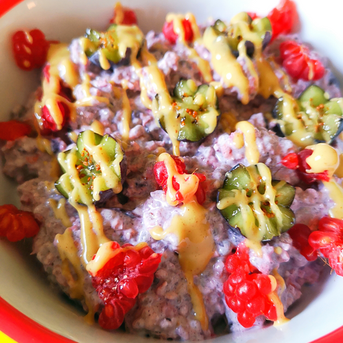 Double Berry Breakfast Pudding