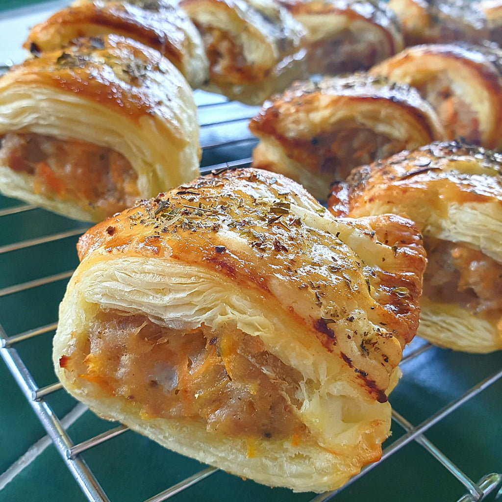 Carrot & Apple Sausage Rolls