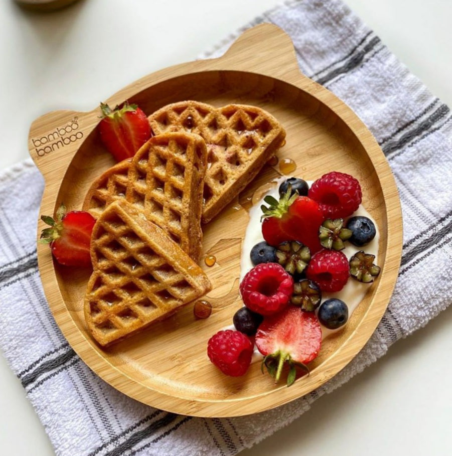 Strawberry & Peanut Butter Waffles