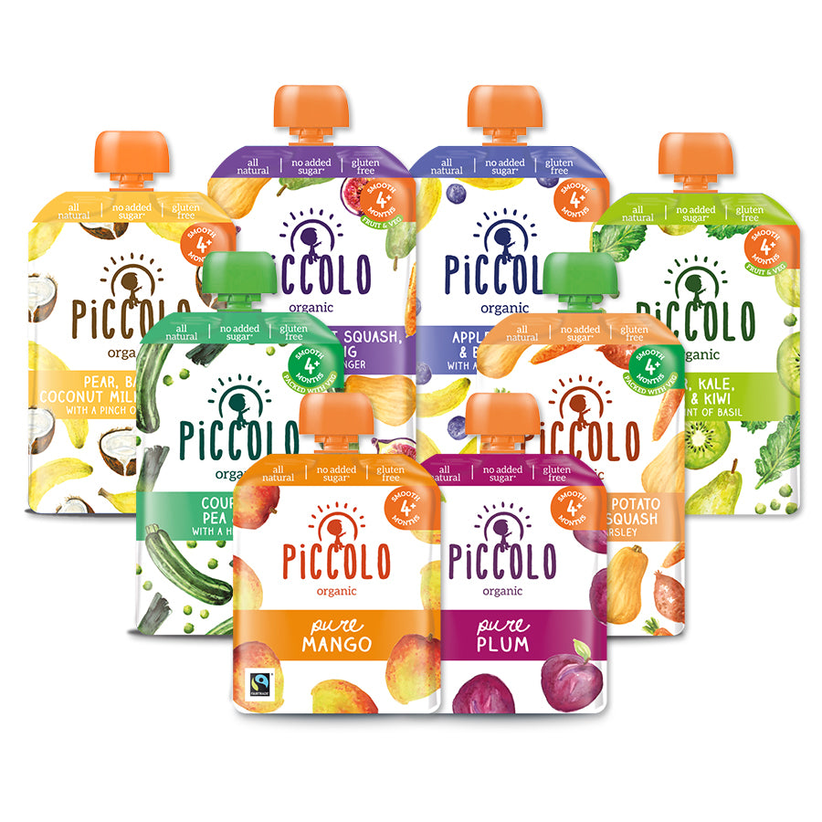 Piccolo Organic Baby Food: Pouch Selection 4 months+ (22 meals)