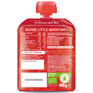 Organic Baby Food: Grab & Go Smoothies (4 x 60g) 6 Months+