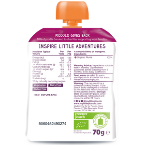 Organic Baby Food: Pure Fruit Pouch (6 x 70g) 4 Months+