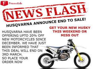 Husqvarna Announce End to Sale