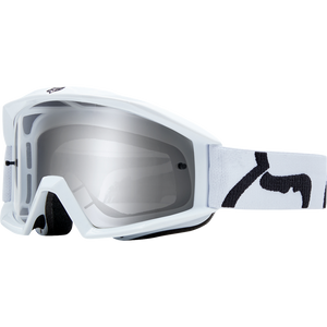 Fox Youth Main Race White Goggle