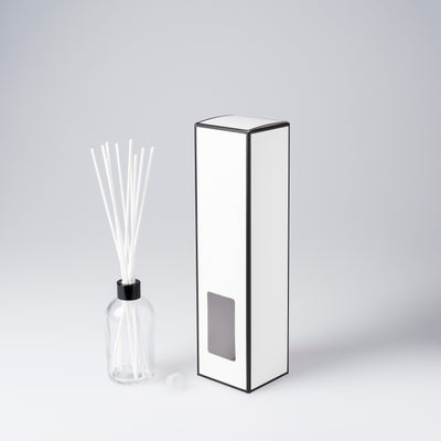 Boston Reed Diffuser Box - White with Black Edge