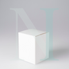 Large Flat Lid Danube Candle Box - White, no Window