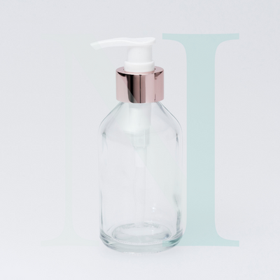 Soap Pump - White with Rose Gold
