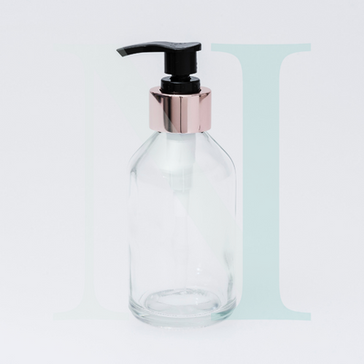 Soap Pump - Black with Rose Gold