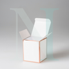 Medium Cambridge Candle Box White with Rose Gold Edge