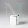 Medium Cambridge Candle Box White with Silver Edge