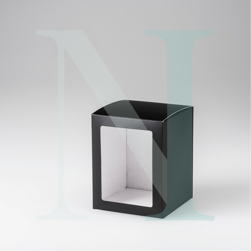 Large Danube Candle Box Black with Window