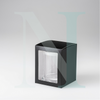 Large Flat Lid Danube Candle Box Black with Window