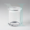 Clear Glass  Danube Base with Flat Lid Large 30cl