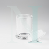 Clear Glass Danube Jar 2 | Base with Knob Lid Large | NI Candle Supplies