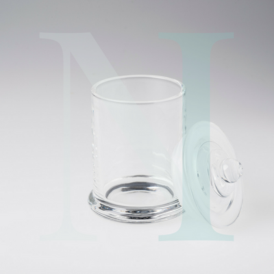 Medium 20cl Clear Danube Base with Knob Lid