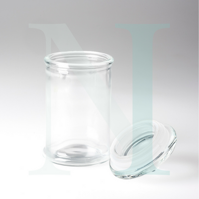 Large 35cl Clear Tisza Base with Knob Lid
