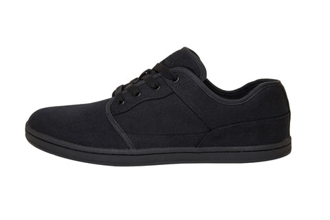 Organic Canvas Casual/Sport Low Top Black/Black